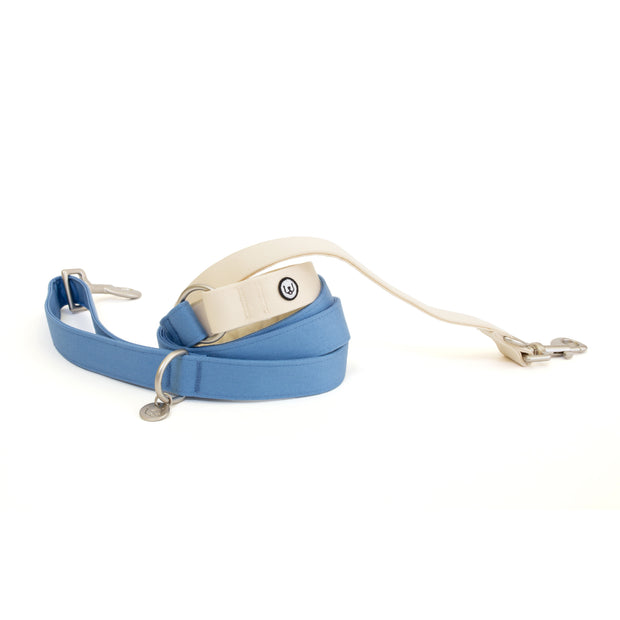 Candy Blue-Ivory Convertible Leash 1