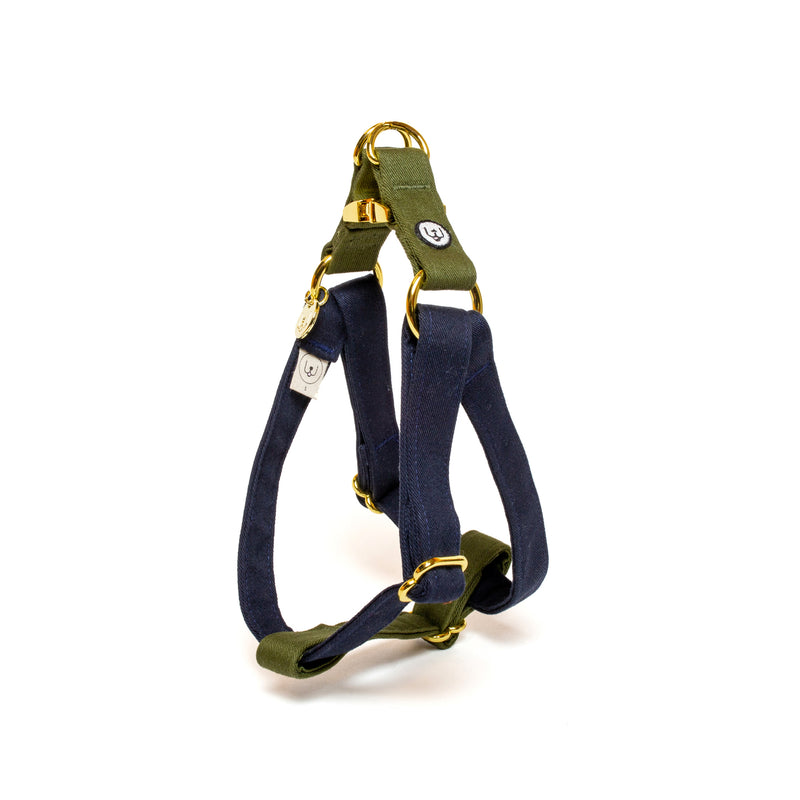 Navy-Olive Step-In Harness