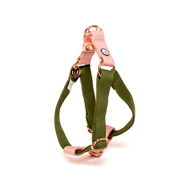 Olive-Blossom Step-In Harness