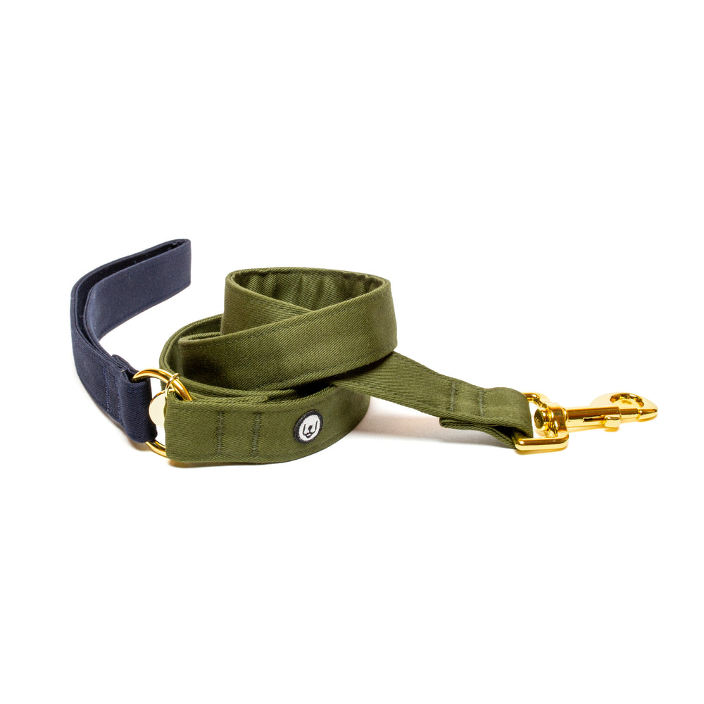 Navy-Olive Standard Leash