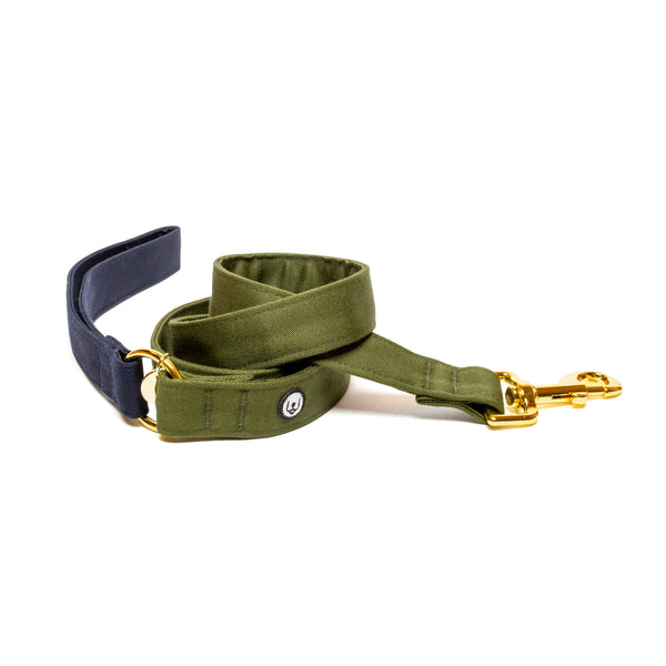 Navy-Olive Leash