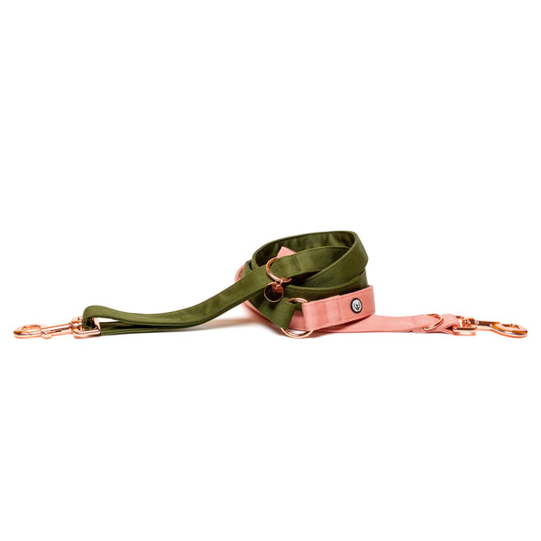 Olive-Blossom Convertible Leash