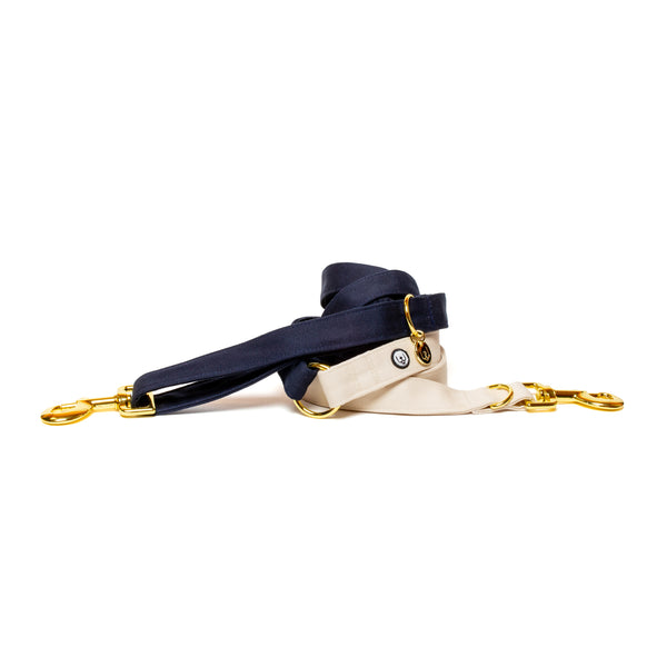 Navy-Ivory Convertible Leash
