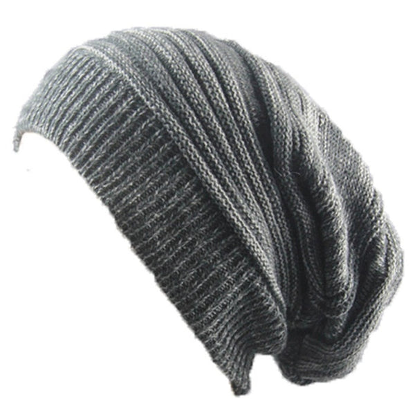 Men and women hat mixed color cotton striped hip hop Sk Sk winter warm hat scarf Beanies knit long loose hat gorro headdress