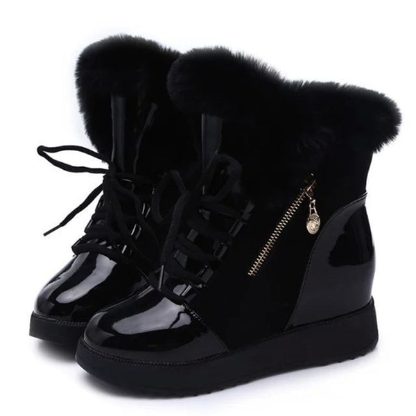 Women Boots platform Winter Shoes Women Snow Boots Platform Keep Warm Ankle Winter Boots With Thick Fur Heels Botas Mujer