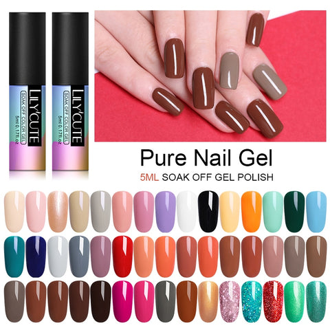 LILYCUTE Nail Art Gel 5ML  Nail Color UV LED Gel Nail Polish Long-lasting Macaron Soak off Varnish Gel varnish Nail Art DIY