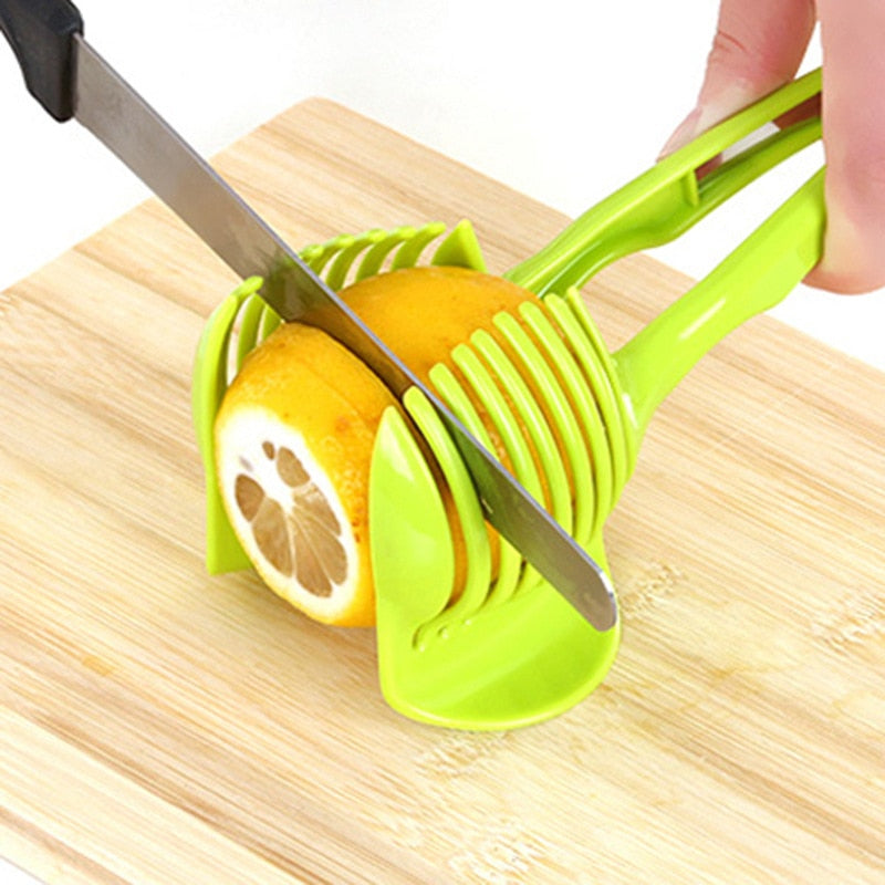 Handheld kitchenware tomato slicer bread clip fruit and vegetable cut potato apple creative gadget kitchen accessories
