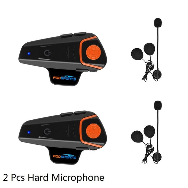 Fodsports BT-S2 Pro motorcycle helmet intercom motorbike wireless bluetooth Headset waterproof BT Interphone with FM