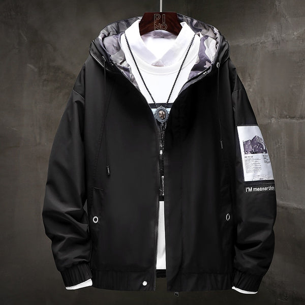 Windbreaker Coats Men Hip Hop Cargo Bomber Jackets Designer Japanese Steetwear Autumn Big Size Harajuku,ZA351