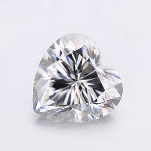 7*7mm EF heart shape 1.2ct pure white clarity jewelry moissanites stones fashion gems