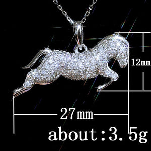 Modyle Racing Horse Zircon Pandants Necklaces for Women Top-selling Lover Gift Jewelry Accept Drop Shipping