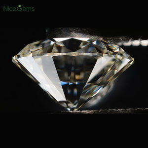 NiceGems D Color Moissanite 1Carat Brilliant  Hearts & Arrows Cut 6.5mm Round Colorless Loose Gems Stone lab Grown Diamond VVS1