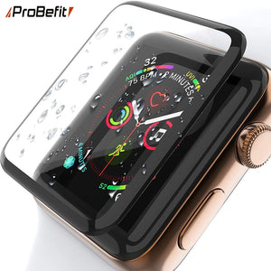 3D Curved Edge HD Tempered Glass for Apple Watch Series 3 2 1 38MM 42MM Screen Protector film for iWatch 4/5 40MM 44MM Full glue