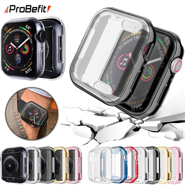 ProBefit 360 Slim Watch Cover for Apple Watch Case 5 4 3 2 1 42MM 38MM Soft Clear TPU Screen Protector for iWatch 4 3 44MM 40MM