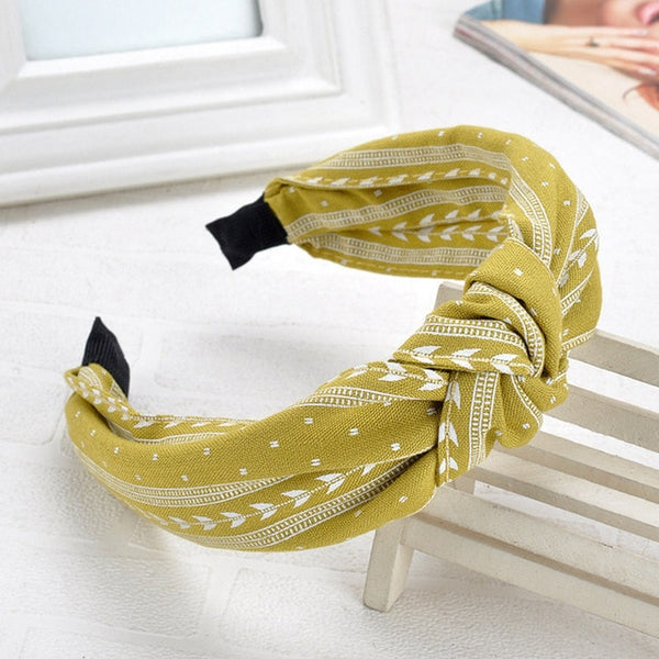 Wide Top Knot Hair Bands For Women Headdress Solid Color Cloth Headband Bezel Girls Hairband Hair Hoop Female Hair Accessories