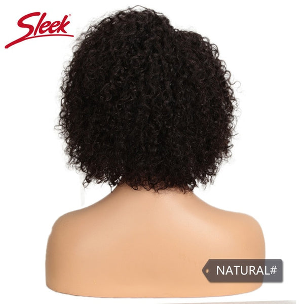 Sleek Short Human Hair Wigs Kinky Curly Wig For Women Remy Brazilian Hair Pixie Cut Wig Natural Part Curl Wigs Fast France USA