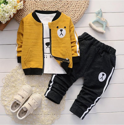 Baby Boys Suits Spring 2020 Autumn Infant Denim Casual Clothing Sets 3pcs Fashion Clothes Sets Newborn baby outfit for boy