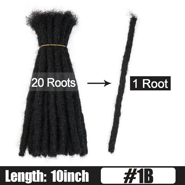 6 10 20 Inch Afro Handmade Dreadlocks Crochet Hair Wholesale Synthetic Ombre Braiding Hair Extensions For Black Women Bulk Hair