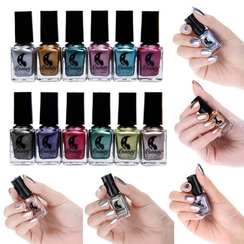 17Colors Metal Mirror Chrome Effect Nail Polish Lasting Silver Transparent Rose Gold Nail Polish Art Design Mirror Nail Polish
