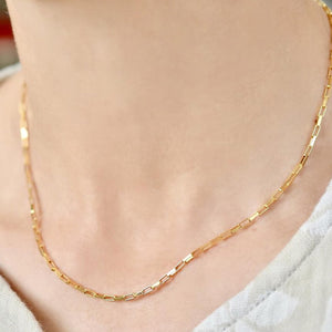 14K Gold Filled Chain Necklace Handmade Gold Choker Boho Chain Collier Femme Kolye Collares Women Jewelry Necklace for Women