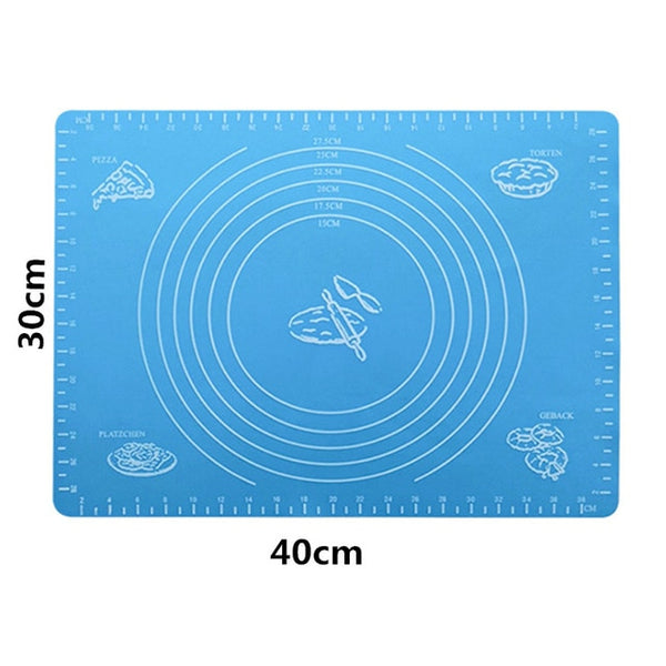 Kitchen Accessories Silicone Baking Mats Sheet Pizza Dough Non-Stick Maker Holder Pastry Cooking Tools Kitchen Utensils Gadgets