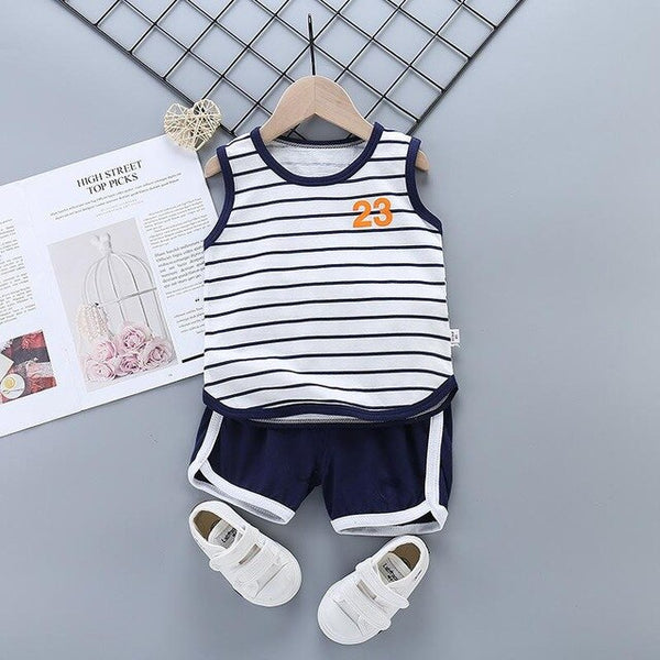 2Pcs/set New Summer Baby Boys Clothes Suit Children Girls Cartoon T Shirt Shorts Toddler Casual Clothing Set Kids Tracksuits