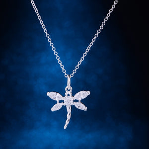 dragonfly shiny cute silver plated Necklace 925 jewelry silver Pandant Fashion Jewelry LQ-P012 NJAMYGPN