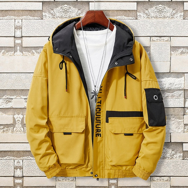 New men's clothing plus size 8XL bomber jacket Brother hooded youth thin men student jacket clothes fashion coats streetwear