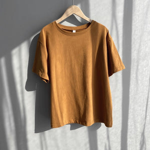 Women  New Fashion Summer Knitted Basic Solid T-shirt Women Casual Pure Cotton Short Sleeve Soft Tee-Shirts Female Tops One Size