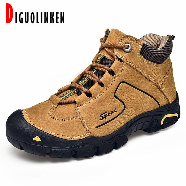 2020 Men Winter Snow Boots Warm Men Shoes Leather Casual Men Boots Ankle Boots Fashion Comfortable Big Size Work Soft Bottom