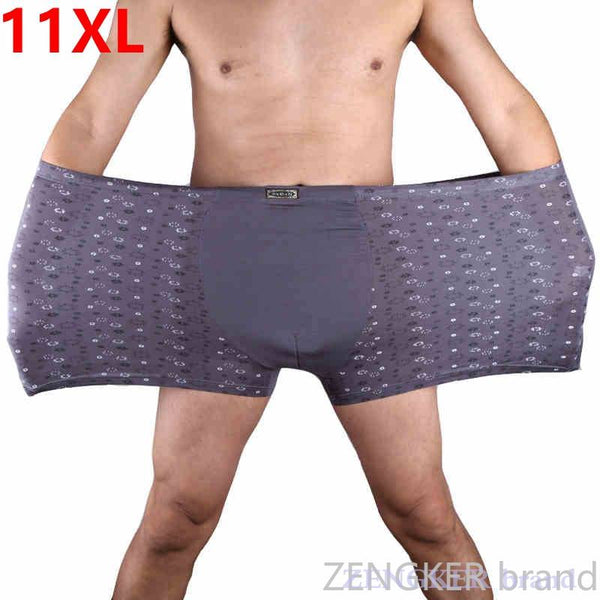 Plus size men's  mens boxer underwear  fat guy underwear loose under pants men's boxers 9XL 10XL 11XL men underwear