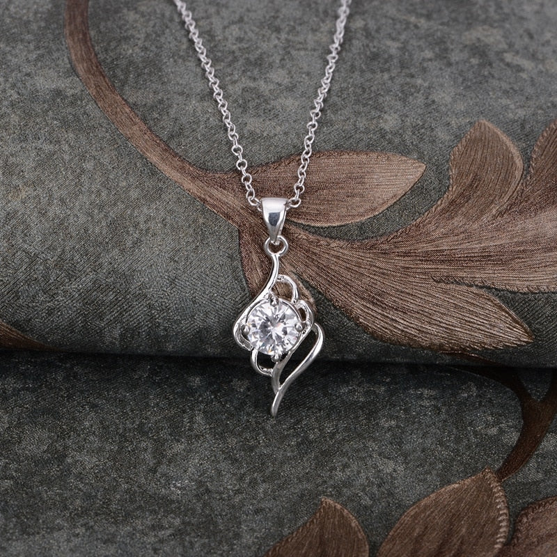 silver plated Necklace 925 jewelry silver Pandant Fashion Jewelry AAUHRIJW