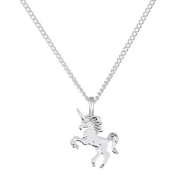 Suteyi Fashion Pandant New Gold-color Life Is Magic Unicorn Horse Alloy Clavicle Chain Necklace Pendant Jewelry Gift