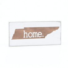 X-Small Wooden TN Home Sign Brown Stain