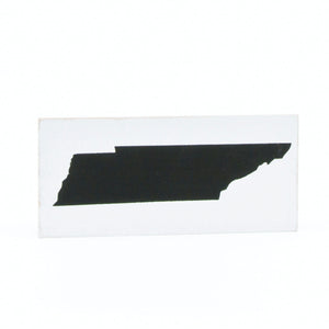 X-Small Wooden State of TN Sign Black