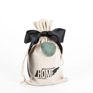 6x10 Home Is Where the Heart Is Linen Bag MIG