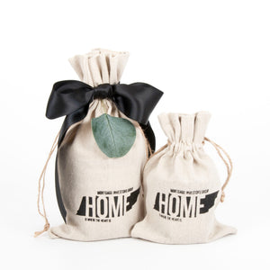 Home Is Where the Heart Is Linen Bags MIG