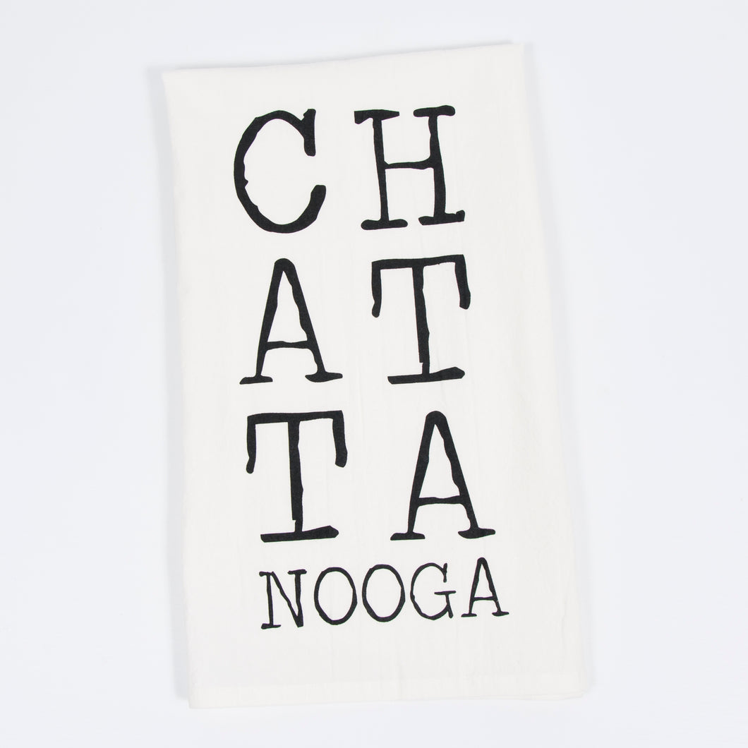 Chattanooga Letterpress Tea Towel