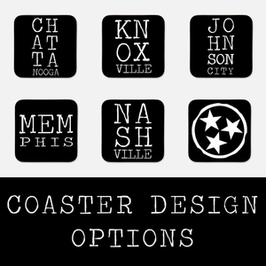 Letterpress Coaster Design Options