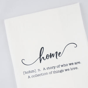 Home Definition Tea Towel