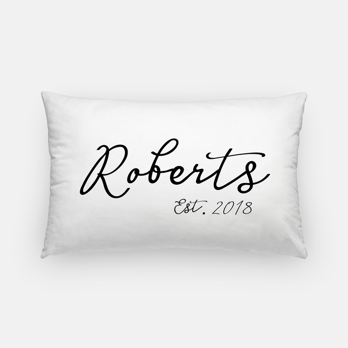 Lumbar Canvas Pillow - Family Name