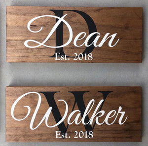 Small Custom Family Name Sign - MIG