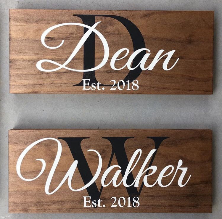 Small Custom Family Name Sign