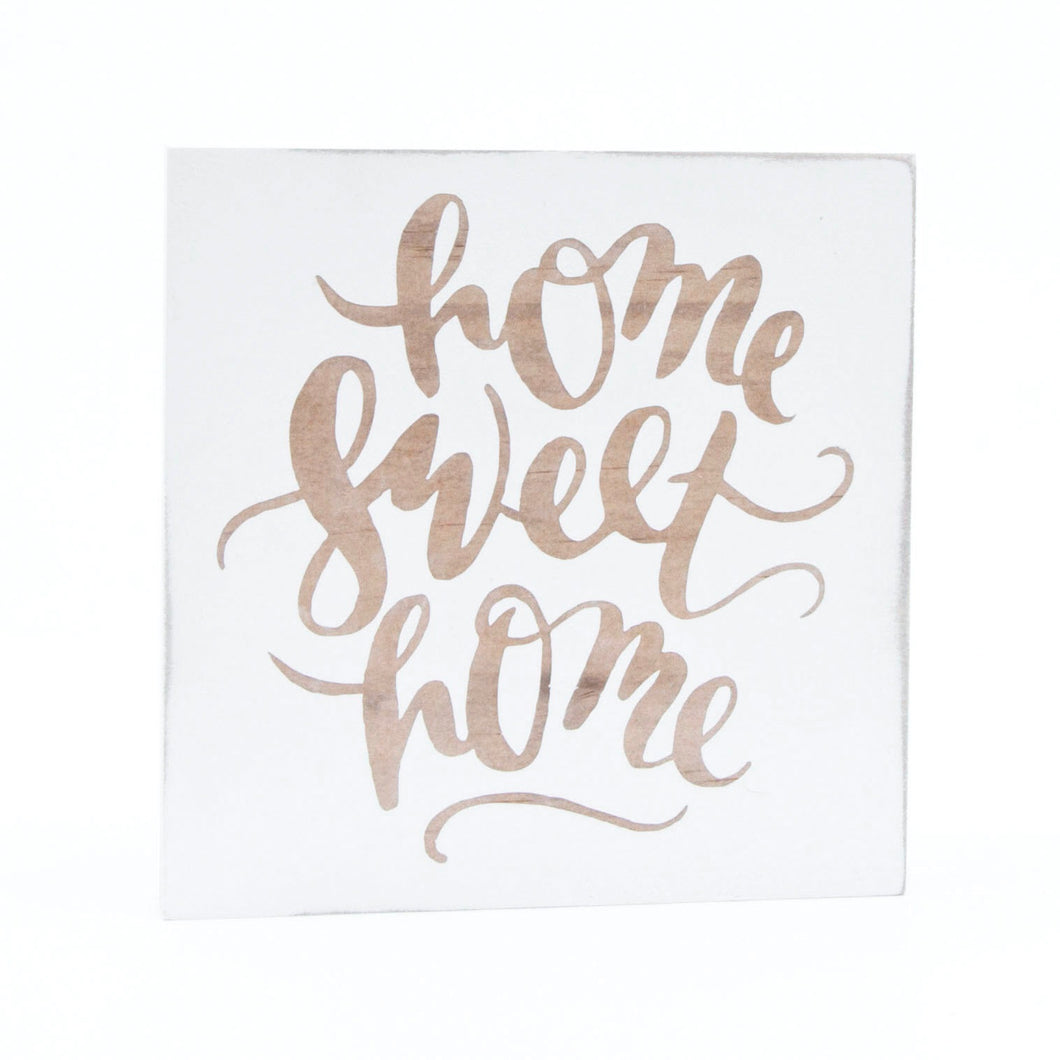 Small Square Home Sweet Home Sign