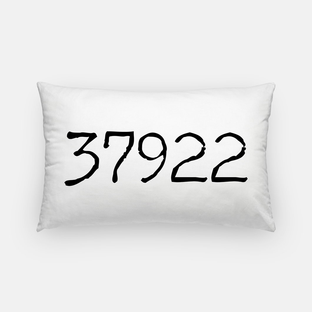 Lumbar Canvas Pillow - Zip Code