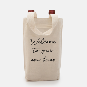 Wine Tote - Welcome to Your New Home