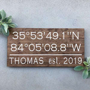 Large Custom Coordinates Sign - MIG