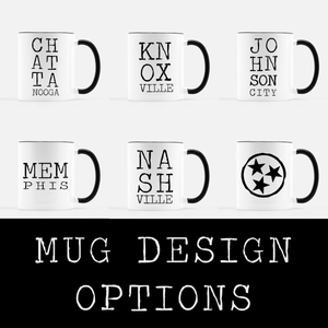 Letterpress Mug Design Options