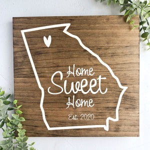 Georgia State Home Sweet Home Sign - MIG