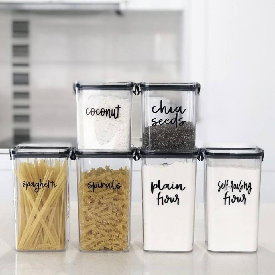 Kitchen Pantry Labels
